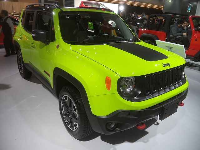 Jeep Renegade Trailhawk ソーラーイエロー フロント