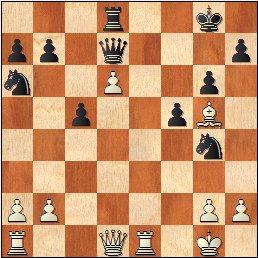 Partida de ajedrez Ribera vs. García Sáinz en 1961, posición después de 21.Ag5