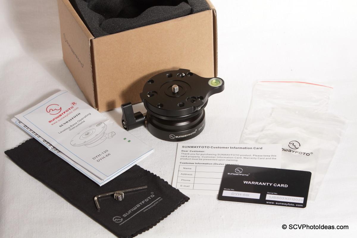 Sunwayfoto DYH-66i box contents