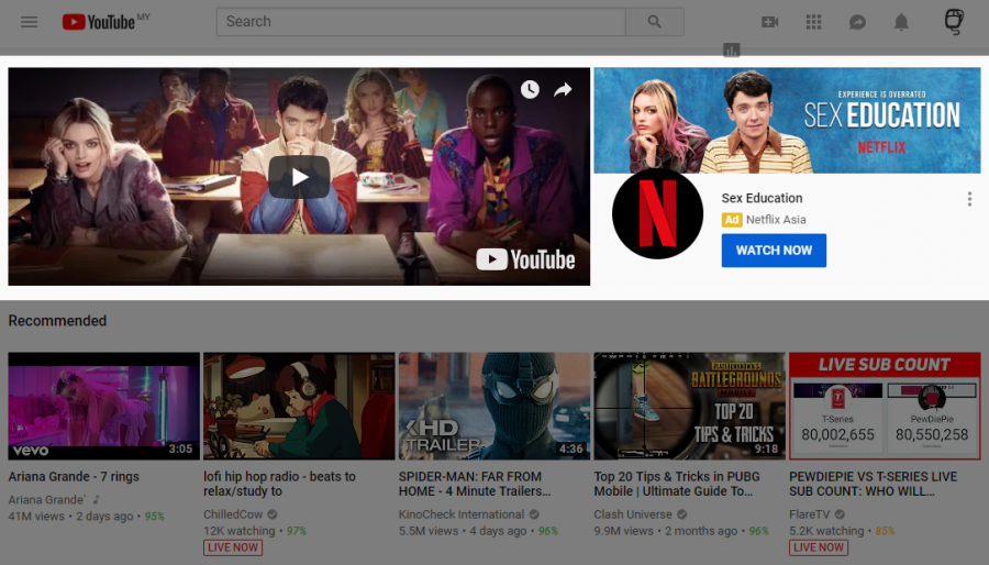 YouTube Homepage Masthead on Desktop
