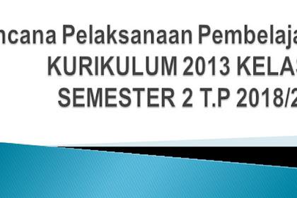 RPP Kurikulum 2013 Kelas 10 Semester 2 T.P 2018/2019