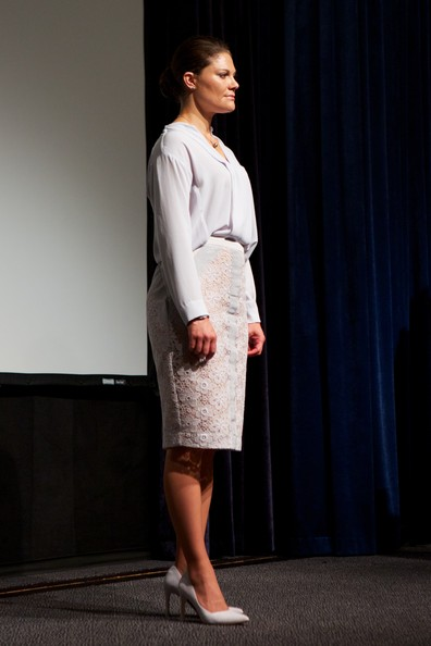 Swedish Crown Princess Victoria attends the Export Hermes Award Ceremony
