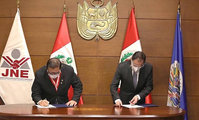 JNE y OEA suscribieron acuerdo sobre observación electoral