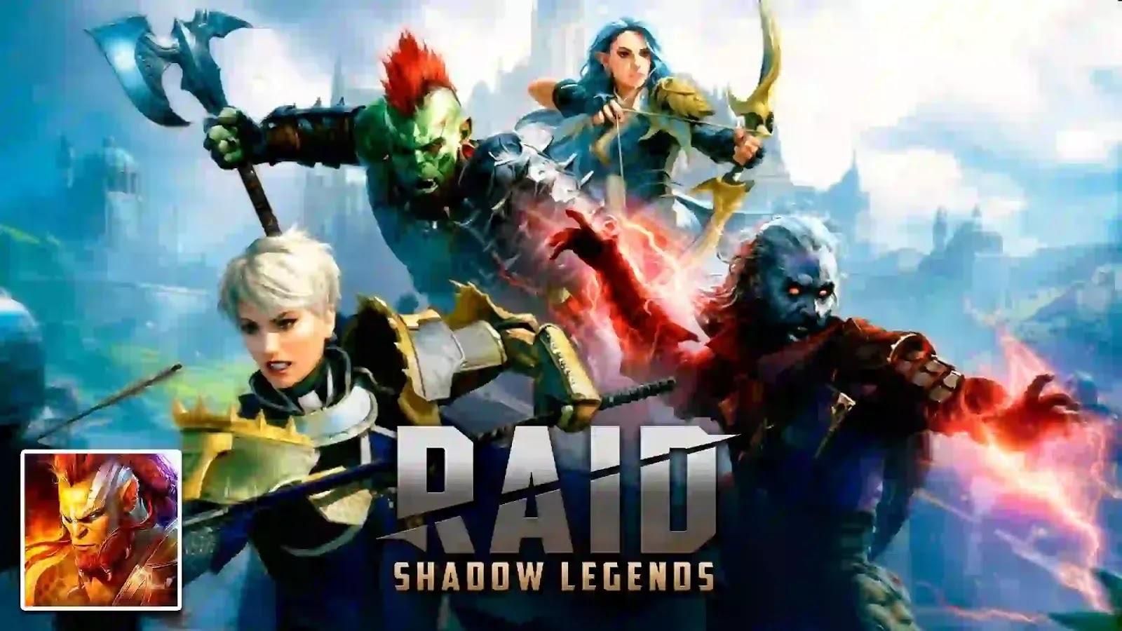 Raid: Shadow Legends هي لعبة تقمص أدوار على الكمبيوتر الشخصي والجوال تقع في عالم خيالي.