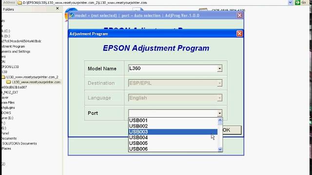 Reseter Epson L360