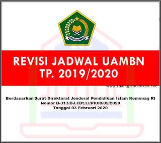 Revisi Jadwal UAMBN Tahun 2020