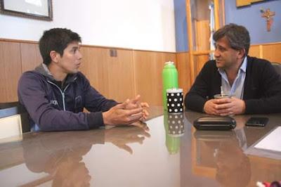 El intendente Fioramonti con Jorge Madril