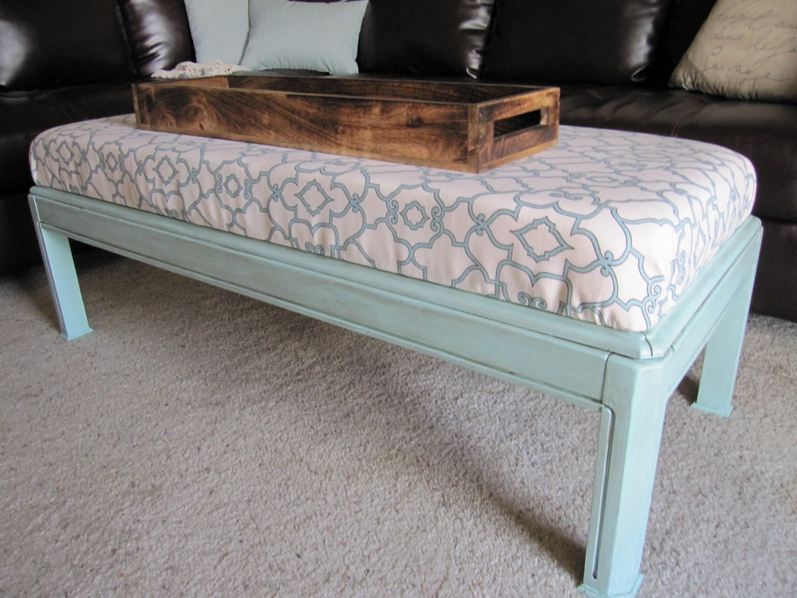 modern mapper: DIY covered ottoman