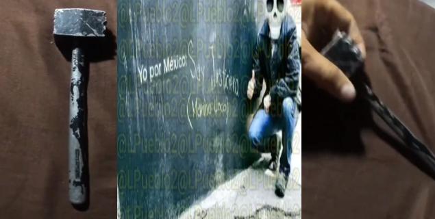 """VIDEO.- Como prueba de que es El Marino Loko su martillo, dejen de estar inventado fregadera y media : Yo por México soy justiciero Att:"""" Marino Loko"""""""