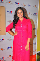 Sree Mukhi in Pink Kurti looks beautiful at Meet and Greet Session at Max Store (17).JPG