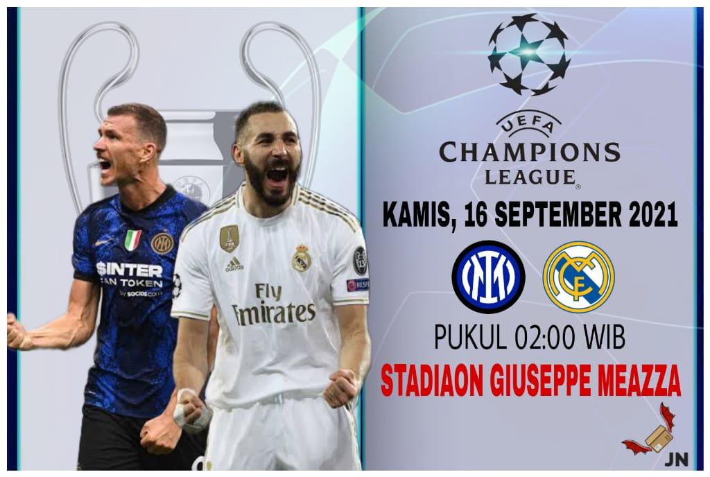 Predikasi Liga Champions Inter Milan vs Real Madrid