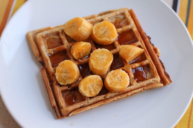 Food Lust People Love: Peanut butter banana waffles are not only delicious, they are higher in protein and vitamins than normal waffles, making them great to start your busy day.
