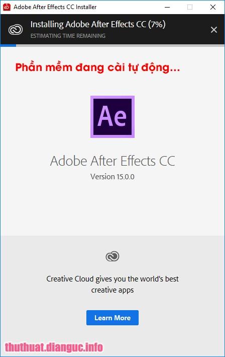 hướng dẫn cài đặt Adobe After Effect CC