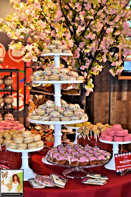 Cost Plus World Market Hello Kitty Pop Up Shop, Towers of Treats, Hello Kitty Treats, Macarons, Cherry Blossom, #WorldMarketxHelloKitty