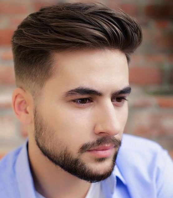50 Ide potongan rambut pria undercut, top knot, brushed on ...