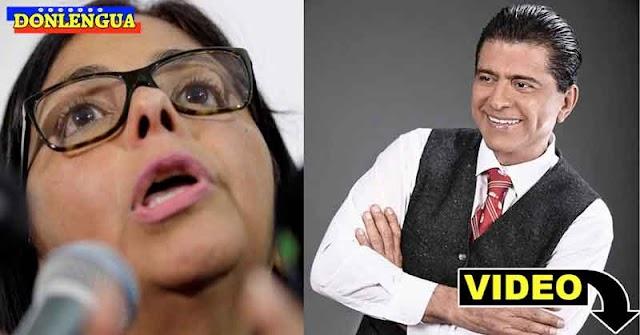 Franklin Virgüez haciendo leña con la fea Delcy Rodríguez