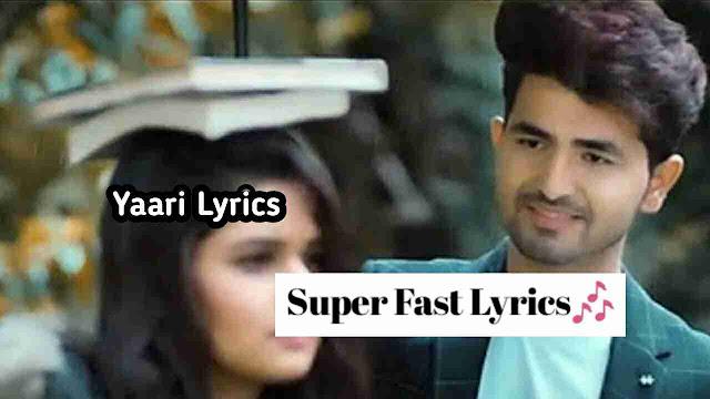 यारी – Yaari Lyrics in English & Hindi – Nikk ft Avneet Kaur 2019