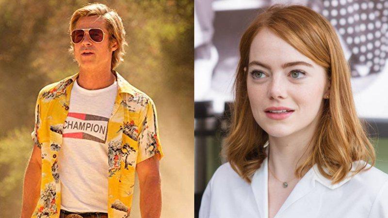 Brad Pitt em Era Uma Vez Em... Hollywood/Sony Pictures/Reprodução e Emma em La La Land/Paris Films/Reprodução