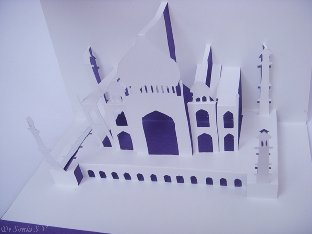 Kirigami Pop Up Card Tajmahal