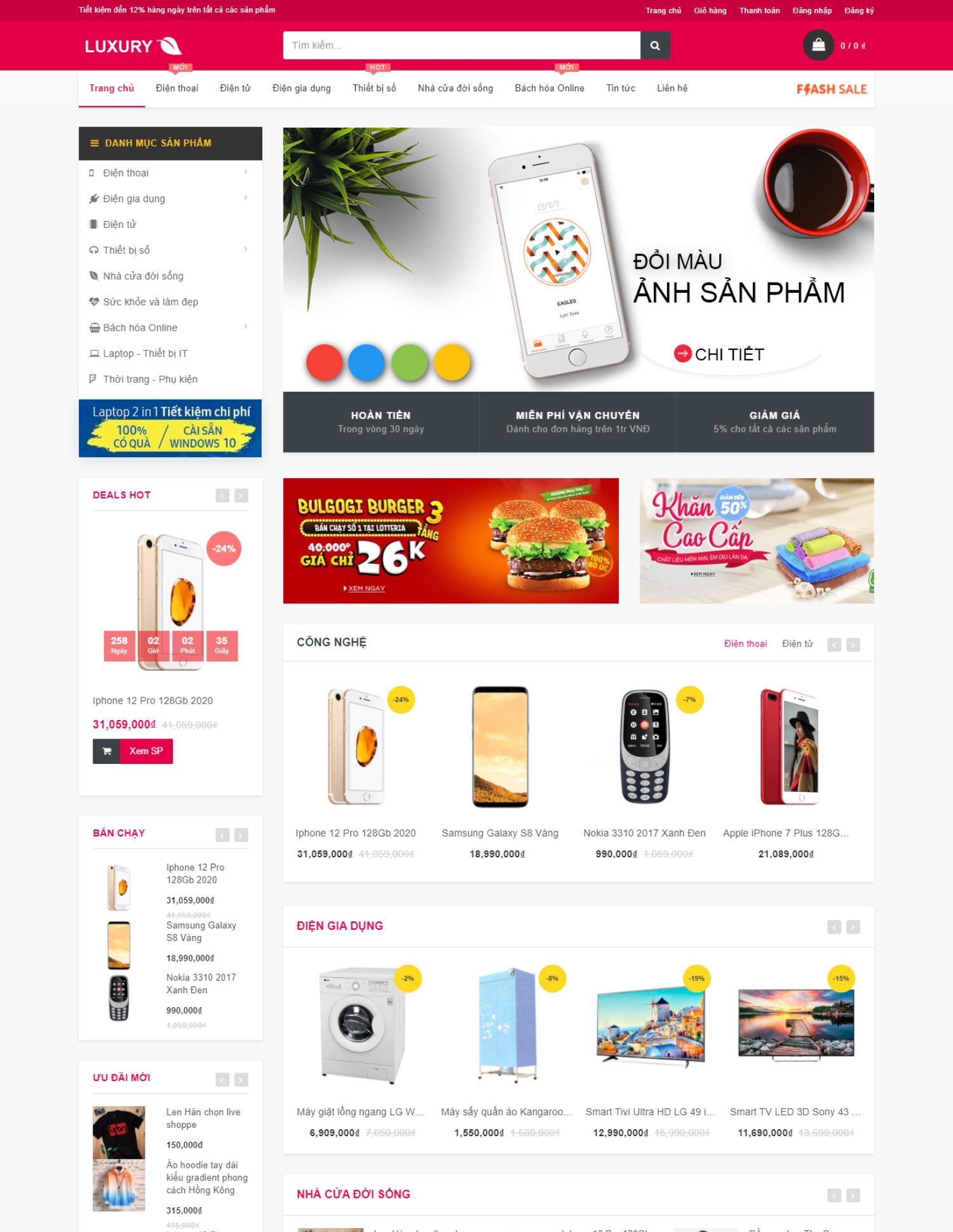 Theme blogspot bán hàng tiếp thị liên kết (VSM94)