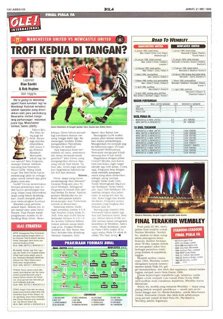 FA CUP FINAL 1999 MANCHESTER UNITED VS NEWCASTLE UNITED