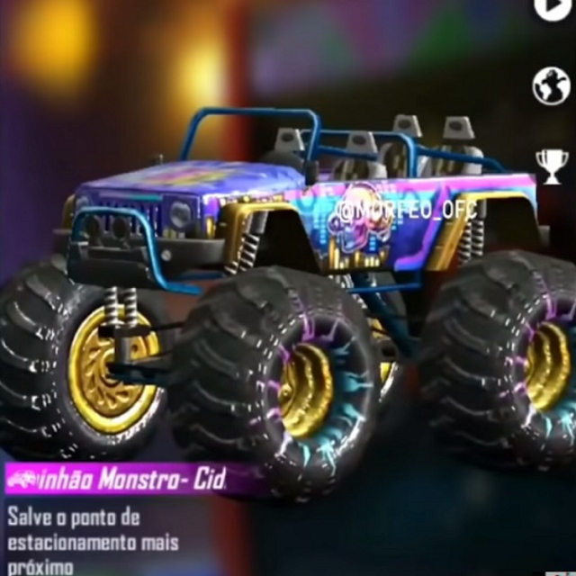 Skin Monster Truck FF Terbaru Elite Pass FF Season 30
