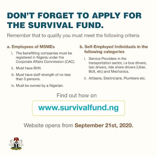 How to Apply for the Federal Government N75Bn MSME Survival Fund for Self Employed, Transporters, Artisans etc.