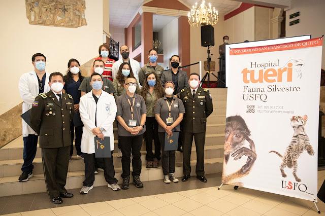 Miles de animales silvestres han sido rescatados gracias a la gestión de la USFQ y la Policía Nacional del Ecuador