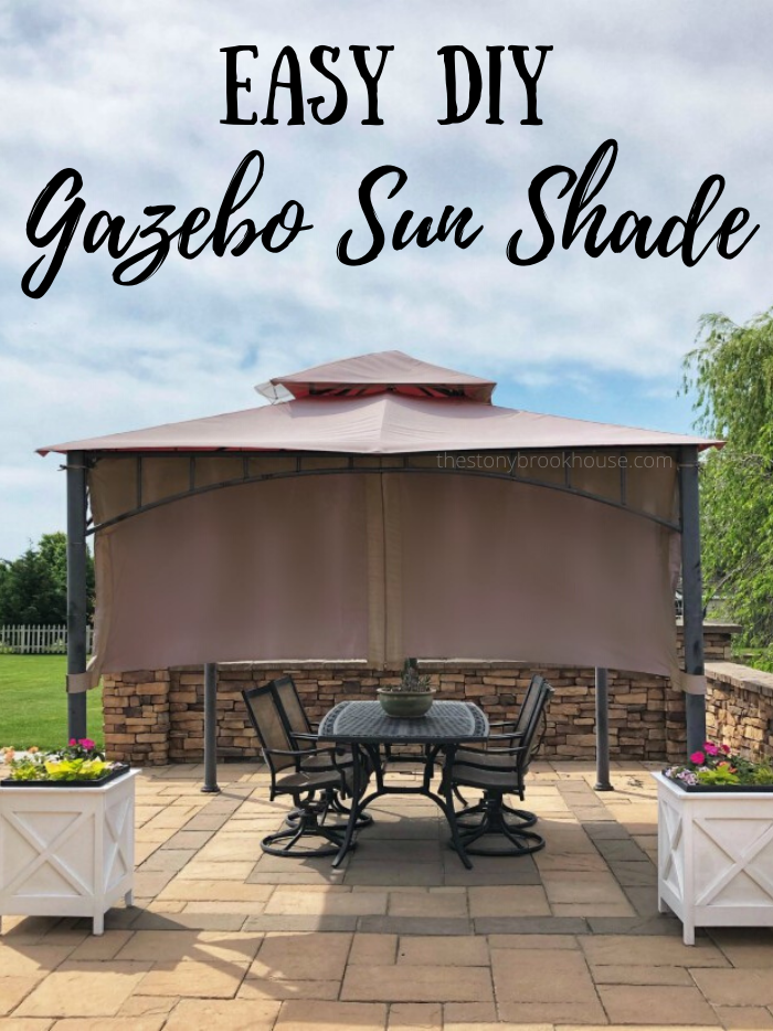 DIY Gazebo Sun Shade