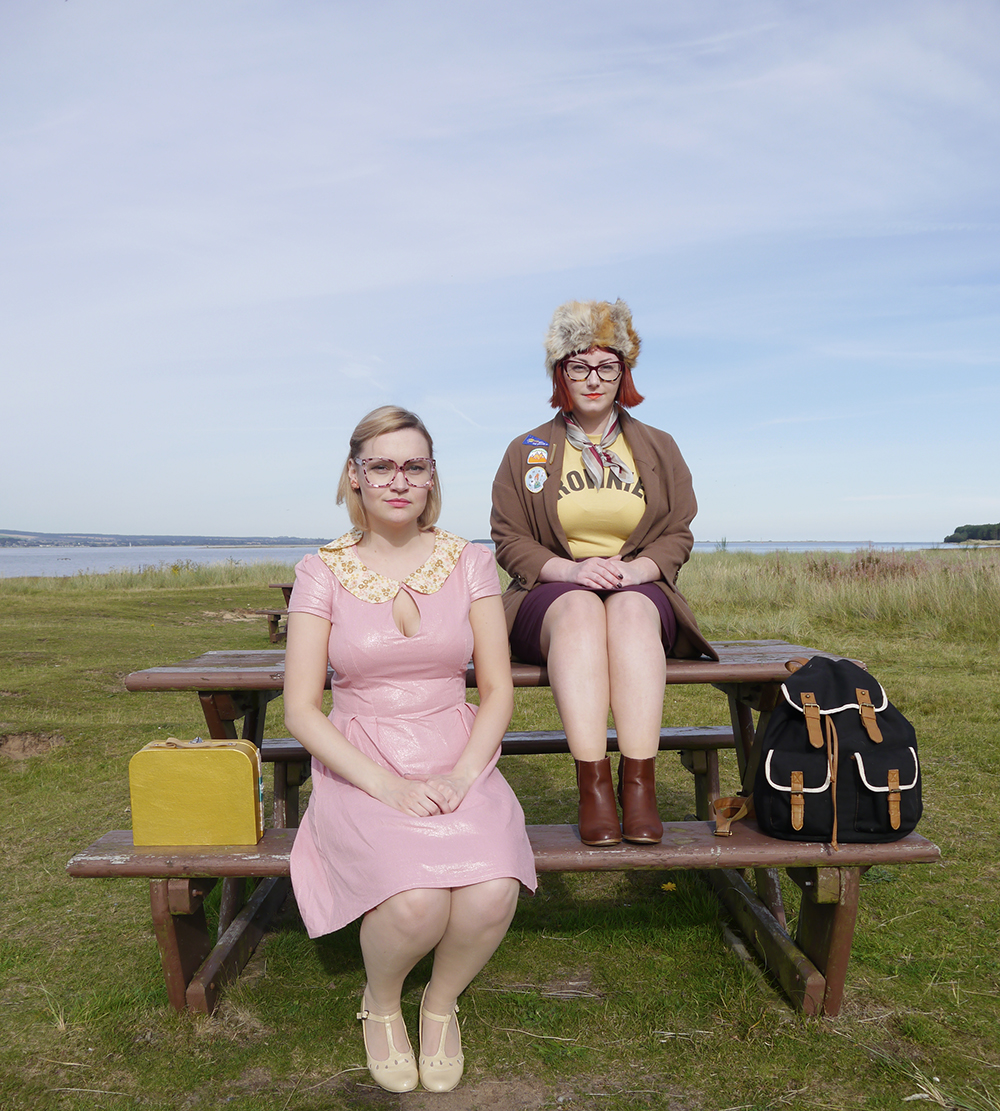 Moonrise Kingdom, Moonrise Kingdom style, Moonrise Kingdom costumes, Moonrise Kingdom outfits, Wes Anderson inspired outfits, couples costume, blogging duo, Scottish Bloggers, Wardrobe Conversations, cute costume ideas