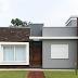 Fachada de casa térrea e pequena com 48m² e estilo contemporâneo!