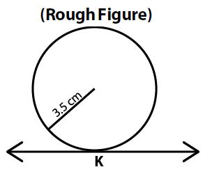 OMTEX CLASSES: 5. Draw a circle of radius 3.5 cm. Take any