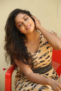 Telugu Actress Karunya Chowdary Stills in Short Dress at ATM Not Working Press Meet  0207.jpg