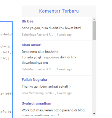 Cara Memasang Widget Recent Comments Disqus Di Blog