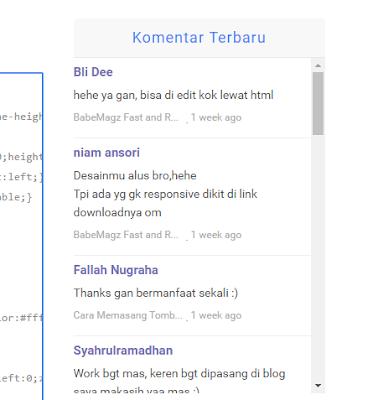 Cara Memasang Widget Recent Comments Disqus Di Blog
