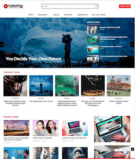 VideoPlay Responsive Blogger Template Free Download