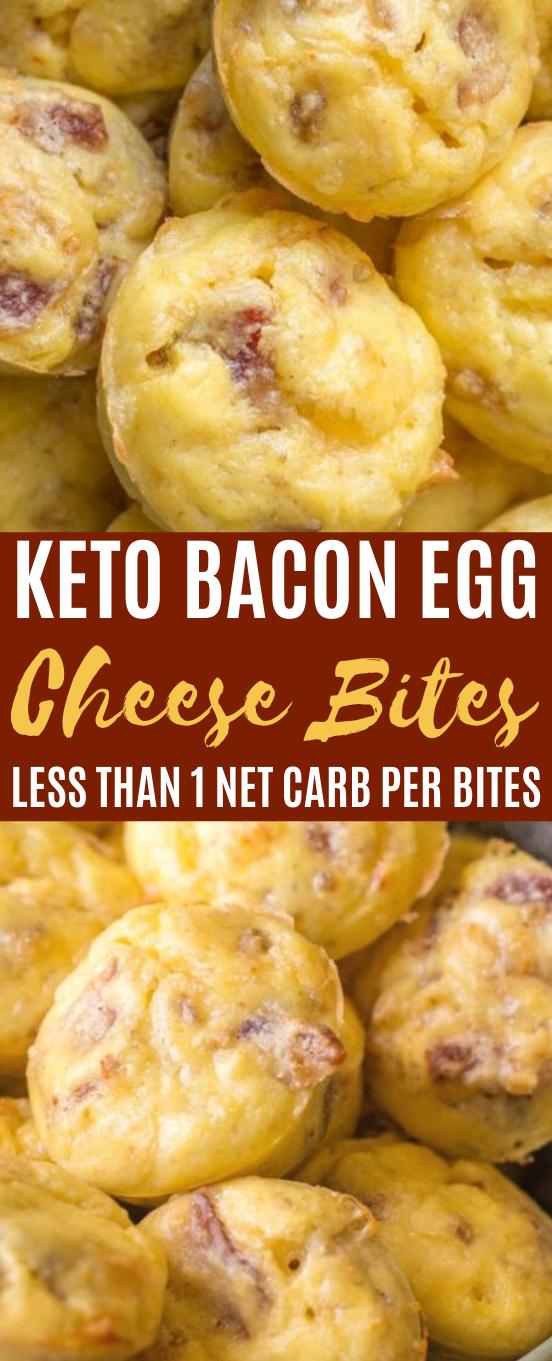 Keto Bacon Egg and Cheese Bites #keto #breakfast #lowcarb #diet #eggs