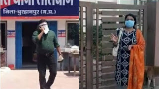 बुरहानपुर निगम आयुक्त भूमरकर दम्पत्ती का पारिवारिक विवाद हुआ सार्वजनिक