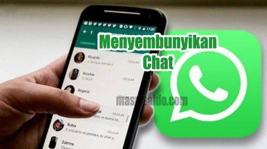 Menyembunyikan Chat Obrolan Seseorang di Whatsapp Android Dengan Mudah