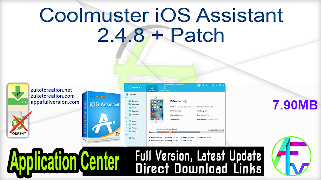 Coolmuster iOS Assistant 2.4.8 + Patch