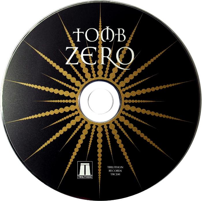 Tomb Zero CD digipack back cover.