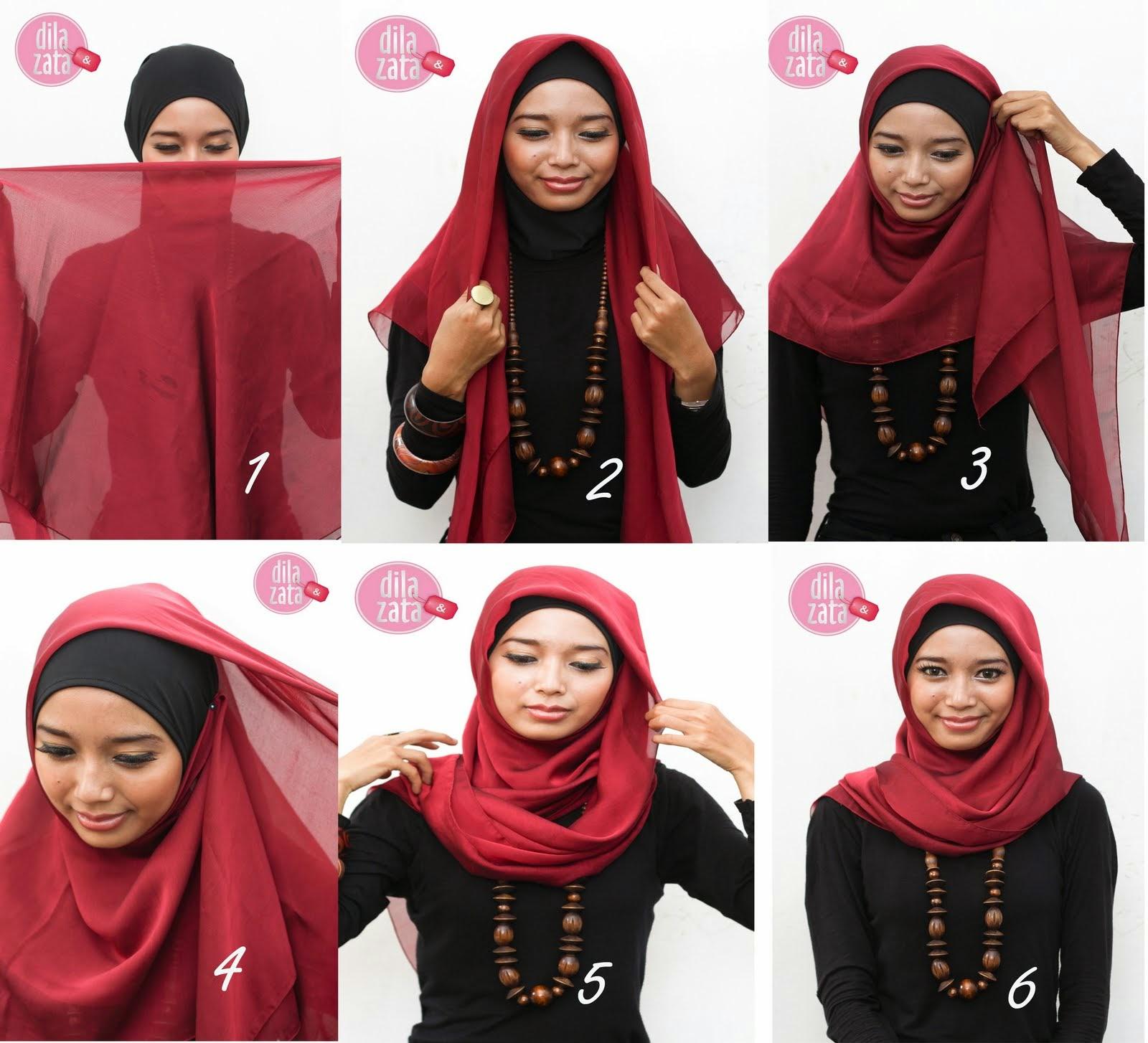 Tutorial Hijab Segi Empat Zaskia Sungkar Tutorial Hijab Paling