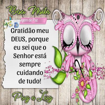Gratidão meu DEUS, porque eu sei que o Senhor está sempre cuidando  de tudo!
