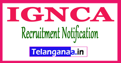 IGNCA Indira Gandhi National Centre for the Arts Recruitment Notification 2017