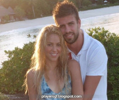 Gerard Piqué and his girlfriend Shakira