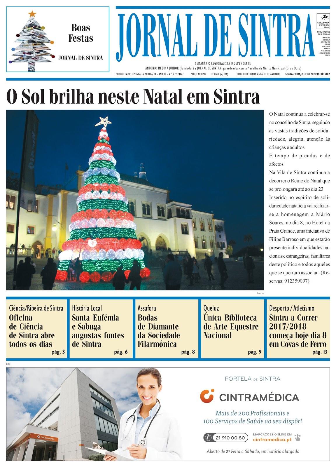 Capa da edição de 08-12-2017