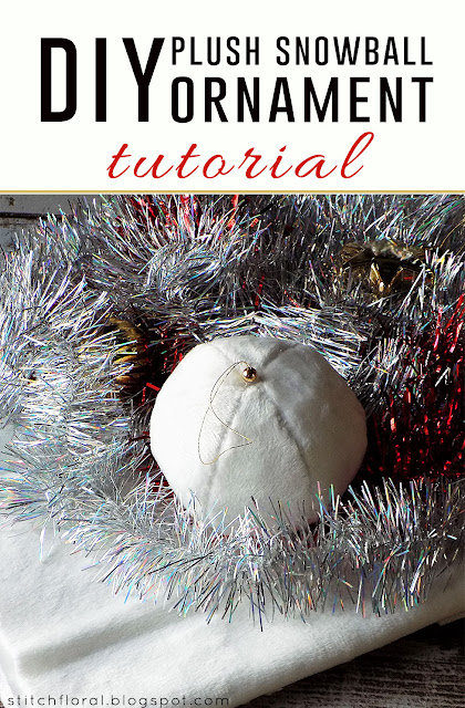 DIY plush snowball ornament