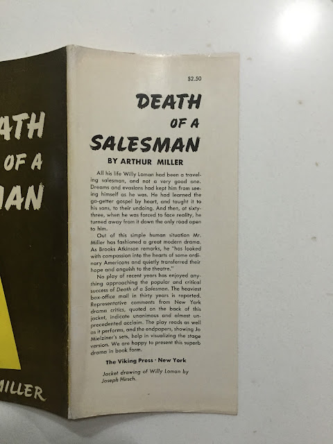 death of a salesman relating to Death of a salesman is a 1949 play written by american playwright arthur miller it was the recipient of the 1949 pulitzer prize for drama and tony award for best play  the play premiered on broadway in february 1949, running for 742 performances, and has been revived on broadway four times, [1] winning three tony awards for best revival.