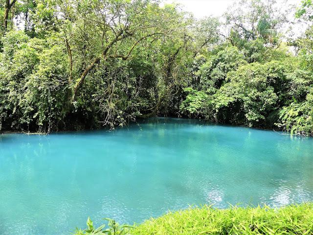 laguna azul rio celeste costa rica
