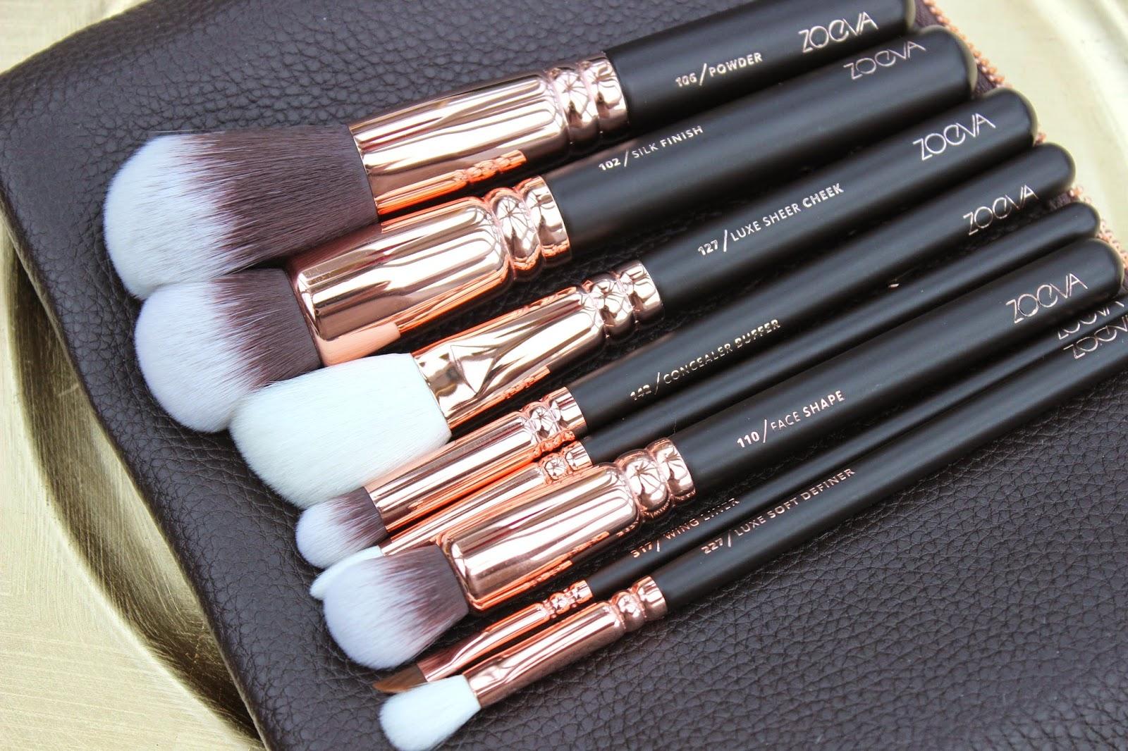 Avon Makeup Brush Set Uk Saubhaya Zoeva Dark Brown 8 Piece Bursh Bag Rose Gold